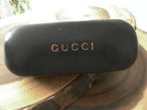 Gucci eyeglass case unisex Black with gold/copper logo VINTAGE