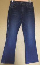 Womens 8~RALPH LAUREN~Blue Jeans Stud Embellished W/Stretch Boot Cut 31x31 EUC