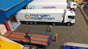 1:50 Scale Code 3 Morgan Mclernon Scania S Series 4x2 3 Axle Fridge Trailer.