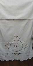 Fold Over Linen Art Nouveau French interesting white cut work Lovely done