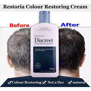 Restoria Discreet Colour Restoring Cream Anti Grey Hair Treatment Younger 250ml