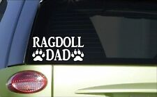 Ragdoll Dad *H859* 8 inch Sticker decal cat groomer scissors harness