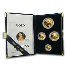 1990 4-Coin Proof Gold American Eagle Set (w/Box & COA) - SKU #4892