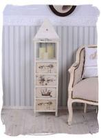 Vintage Kommode Laterne Shabby Chic Windlicht Säule Kerzensäule Weiss