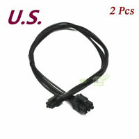 2pcs Mini 6pin to 6pin PCIe Pci-express Video Card Power Cable for Apple Mac Pro
