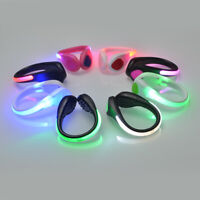 LED Luminous Shoes Light Up Safety Heel Clip Running Jogging Night Trainers Walk