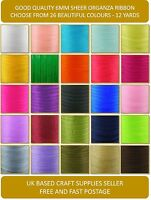 Cut Length Good Quality 6mm Woven Edge Sheer Organza Chiffon Ribbon 12 Yards