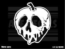 Poison Apple - Snow White - Skull - laptop vinyl decal sticker