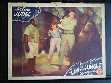 1942 LAW OF THE JUNGLE - MANTAN MORELAND + GORILLA LOBBY CARD - BLACK AMERICANA
