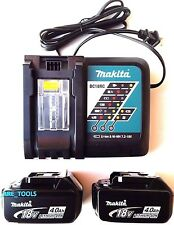 (2) NEW Makita BL1840B 18V GENUINE Batteries 4.0 AH, (1) DC18RC Charger 18 Volt