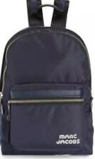 Marc Jacobs Logo Medium Trek Nylon Backpack Midnight Blue Authentic