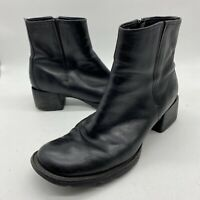 Timberland 21302 Black Leather Ankle Boots Sz 9.5 Smart Comfort System 90s Style