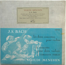BACH Concertos for Violin MENUHIN/FERRAS VSM FALP 30222 French LP