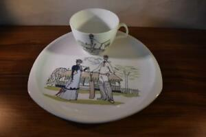 VINTAGE FOLEY BONE CHINA ''FUN & GAMES'' DESIGNED BY MAUREEN TANNER CUP & SAUCER