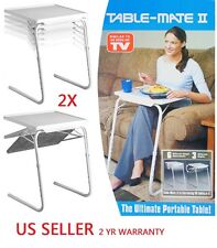 2X H33 SMART TABLE MATE II FOLDABLE FOLDING TABLEMATE AS SEEN TV ADJUSTABLE TRAY