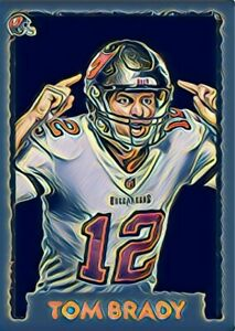 Tom Brady Custom Art Trading Card