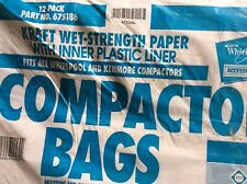 Whirlpool 18 Inch Plastic Lined Trash Compactor Bags 12 Pack