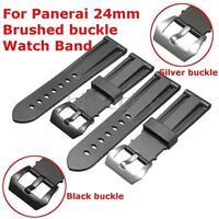 24mm Ersatz Silikon Gummi Armbanduhr Armband Taucher Tauchen Uhr Q Z