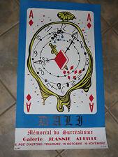 Litho : Affiche exposition du peintre Salvador  Dali, époque 20ème.