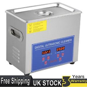 2L Ultrasonic Cleaner Professional Heated Unit Digital Basket Timer & Heater