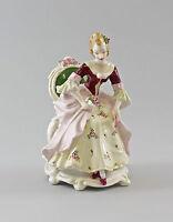 9997166 Porzellan Figur Ens Rokoko-Dame mit Rosen H19cm