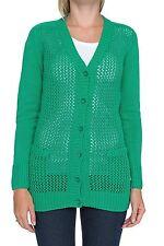 Damen-Pullover mit mittlerer Strickart V-Ausschnitt und Knöpfen