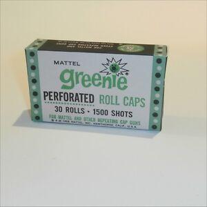 Mattel Greenie Perforated Caps 30 Rolls Reproduction Empty Box