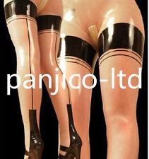 Latex Rubber Gummi Transparent and Black Stylish Pants Size XS-XXL