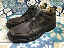 Skechers Blaine Rogen Casual Work Brown Leather Suede Shoes Men's Size 12