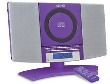 Denver MC-5220 lila CD Player FM Radio Uhr Wecker Wandmontage Stereoanlage HiFi