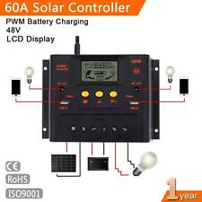 60A 48V LCD Solar Panel Charge Controller Battery Regulator Safe Protection WT