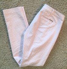 Michael Kors Womens Sz 2 Light Pink White Dress Pants Trousers Straight Leg