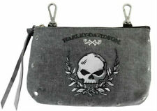 Harley-Davidson Womens Skull Embroidery Hip Bag Detachable Straps Wdd5350-black