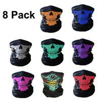 8 Ghost Biker Skull Hood Face Mask Motorcycle Ski Balaclava CS Sport Helmet USA