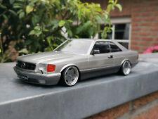 "Mercedes-Benz 560 SEC W126 mit 18"" AMG-Monoblock-Alufelgen 1:18 Tuning/Umbau"