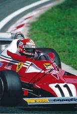 Niki Lauda F1 autograph, In-Person Signed 8X12 inches F1 Ferrari photo