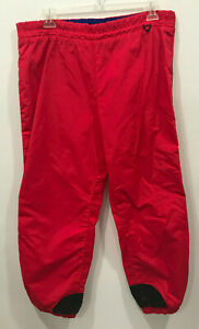 Vintage Mens Columbia Sportswear Neon Pink Snow Ski Pants Nylon Size Large