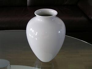 Heinrich Bavaria Selb Vase Blumenvase Flower Vase Weiß White 1970 Seventies
