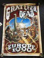 """Grateful Dead POSTER Europe 1990 Tour Rick Griffin 39""""x27"""""""