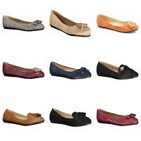 New Womens Lady Designer Comfort Slip On Ballet Flats Many Colors & Styles!