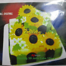 Gelatin Floating Gracilaria 3D Jelly Cake (Sun flower Hoa Huong duong 12pcs/Set)