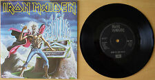 "EX/EX! IRON MAIDEN RUN TO THE HILLS (LIVE) 1985 VINYL 7"" SINGLE EMI 5542"