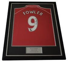 Robbie Fowler SIGNED FRAMED Shirt Autograph Liverpool Football AFTAL COA