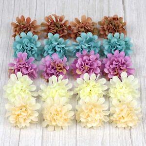 10-100X Daisy Artificial Fake flower Silk Spherical Heads Wedding Bouquet Decor