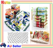 10/24PC Microfibre Microfiber Kitchen Tea Towels Teatowels Dish Glass Cloth Bulk
