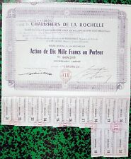 Dépt 17 - Chalutiers de la Rochelle Rare Action de 10 000 F (8 640) 03/09/1957