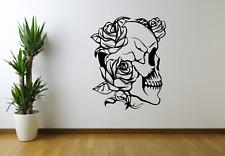 Floral Skull Cranium Flowers Wall Art Sticker Decal Home Decor O90