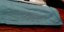 "Jacquard Teal Blue Curtain Pelmet 90""/229cmx14""New Could Be Runner"