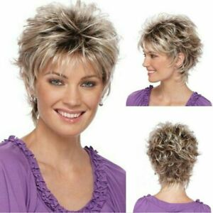 Ladies Wig Women Short Curly Straight Natural Hair Party Wigs Ombre Bob