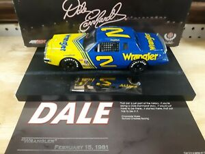 1/24 #2 Dale Earnhardt Wrangler 1981 Grand Prix action Raced version